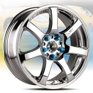 18吋鋁圈 8J 台製品質穩定 繽紛造型 包銀邊設計 搭配215/45/18 普利司通T001 成本裝完工價