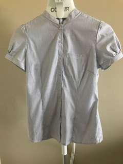 Light blue stripes office shirt