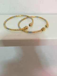 Twin Gold Bangles