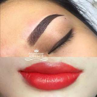 Combo Eyebrow-eyeliner-lip embroidery