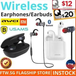 [GSS $12 COUPON!] Xiaomi Awei Baseus Airpods Earphone Earpiece Wireless Earbuds Bluetooth