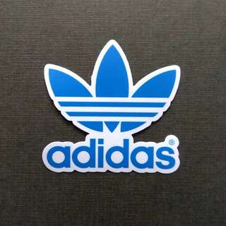 Adidas Originals Blue Logo Vinyl Sticker Luggage Laptop Skateboard