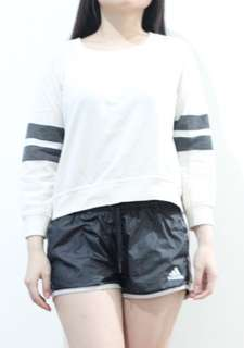 Forever21 black listed white crop sweater