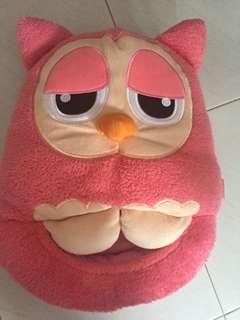 Owl hand/tummy warmer