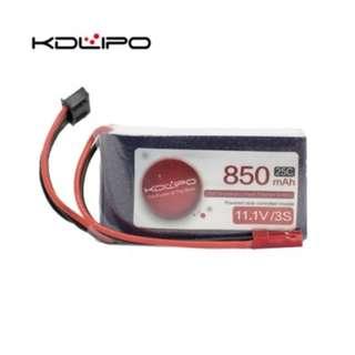 🚚 KD Lipo 850mAh 11.1V 3s 25C