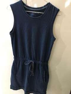 寶石藍連身裙with pockets