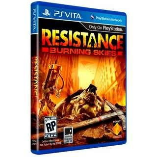 PS VITA Resistance: Burning Skies R1