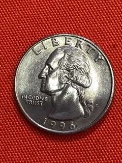 US Quarter Dollar Coin: 1996