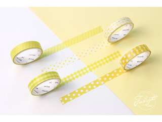 Yellow Design Themed 4-in-1 Washi Tape #268
