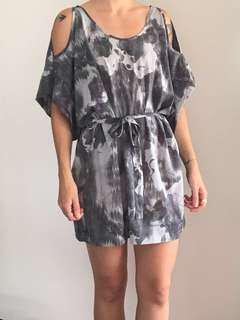'Something else' patterned dress with cut outs