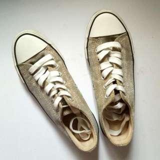 RUBI Gold Sneakers