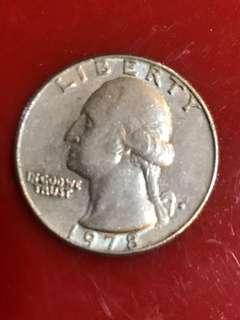 US Quarter Dollar Coin - 1978 P Washington Quarter