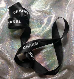 Chanel Black Colour Ribbon 滑身