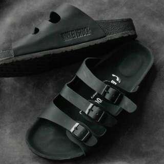 Sandal Birkenstock Pria Gesper 3 Full Black Premium.