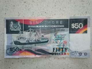 $50.00 note for sales