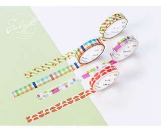 Colourful 4-in-1 Washi Tape #273