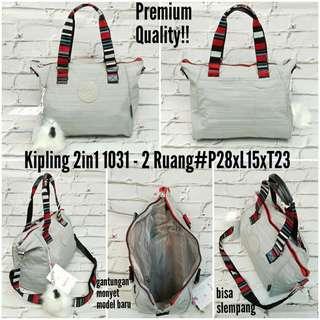 Tas kipling premium 2in1 1031 slempang dan  tenteng