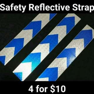 Safety Reflective Strap Blue White