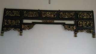 ukiran dinding Jawa prada