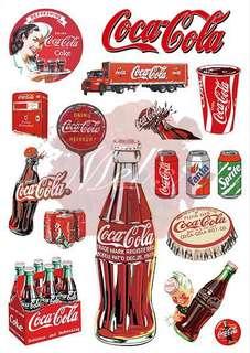 Coca-cola Luggage Sticker • Fanta Sprite Coke