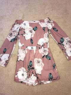 Pastel Pink floral jumpsuit