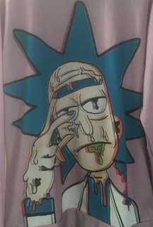 Rick & Morty screen printed sweatshirt