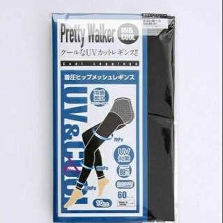 日本製 UV涼感 美體壓力褲 L/2L