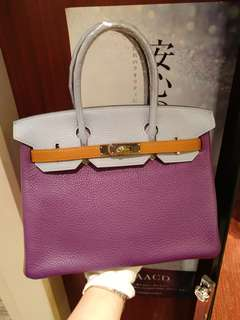 Hermes birkin 30 tri color