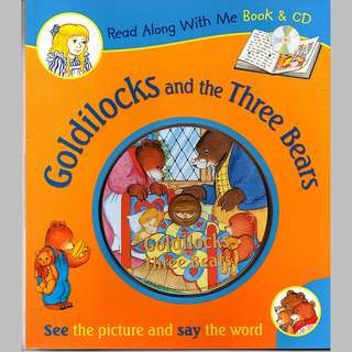Goldilocks and the Three Bears CD Read-Along book and audio CD -- 00165