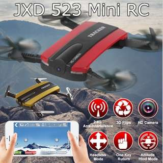🚚 *BNIB* JXD Quadcopter JXD 523 Tracker Foldable Mini Selfie Drone Wifi FPV 0.3MP Camera Altitude Hold - intl