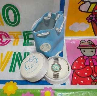 Hello Kitty 圓型飛馬手錶