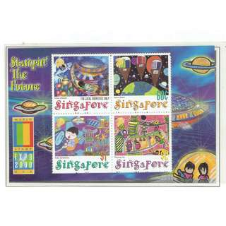 2000  04  Miniature Sheet  Stampin' The Future Through the Eyes of Children