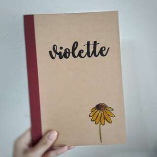 Personalised Notebooks Customised Notebook Customized Customisable Personalized Sunflower Calligraphy Watercolor Flower Floral Teachers' Day Children's Day Birthday Present Graduation Gift Wedding Anniversary Corporate Gift Gift Idea Couple