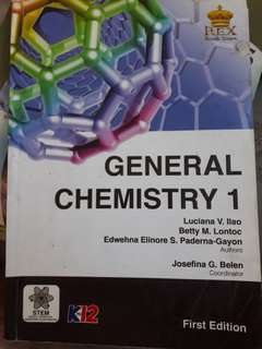 General Chemistry 1 for Senior High School