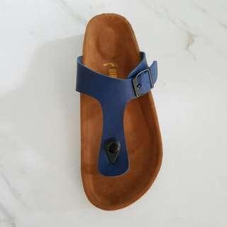 Sandal Birkenstock Japit Biru Premium.