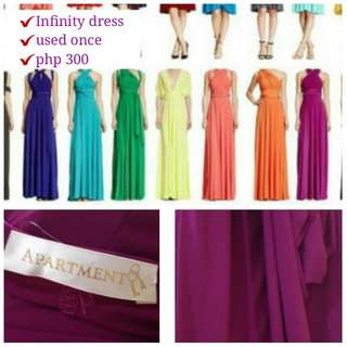Infinity dress branded