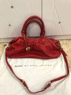 Marc By Marc Jacobs紅色皮袋