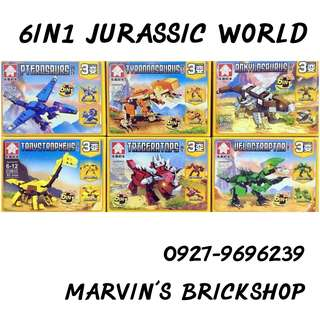 Fos Sale Jurassic World 6in1 Building Blocks Toys