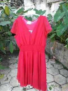 Dress Merah Mineola