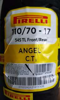 New pirelli tyre 110/70 - 17 (installation not provided)