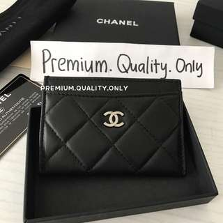 Ready Stock Chanel Card Holder Lambskin black