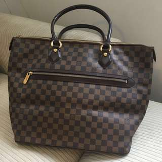 LV Brown Damier Ebene Check Bag