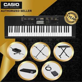 [23% OFF - Local Authorised Seller] Casio CTK-2400 Standard Keyboard | 61 Piano-Style Keys