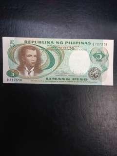 Philippines 5 pesos 1969