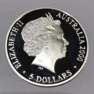 $5 Australia coin issued in 2000 to mark Sydney Olympic