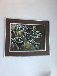 Original oil painting by Vietnamese painter Van Chien