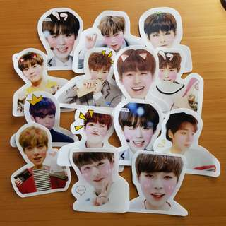 🚚 (no restock! last few sets!) wanna one jihoon stickers