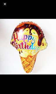 Happy birthday ice cream balloon