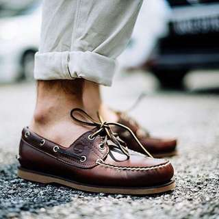 Authentic Timberland Classic Root Beer Brown Boat Shoe Instock