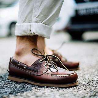 CHEAPEST! Authentic Timberland Classic Root Beer Brown Boat Shoe Instock